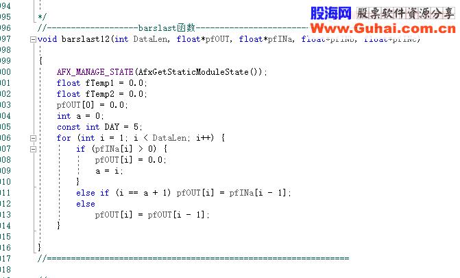 通达信BARSLAST函数在DLL中的表达方式