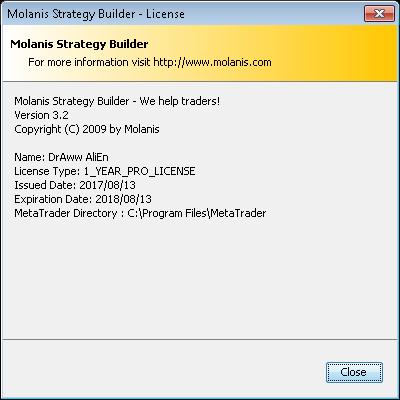 Molanis Products for MetaTrader 4 & 5專業版和諧版